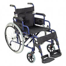 Deluxe Lightweight Self Propelled Aluminium Wheelchair (Blue)