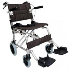 Lightweight Foldable Transport Wheelchair (Black)