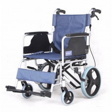 Aluminum wheelchair with foldable backrest