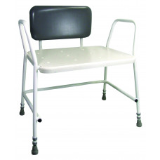 Portland Bariatric Height Adjustable Shower Stool With Padded Back