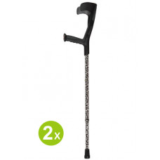 Adjustable Forearm Crutches w/Patterns - Black (One pair)