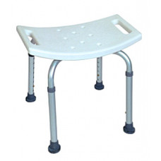 Aluminum release shower bench without back