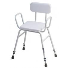 Malling Perching stool with arms & padded back