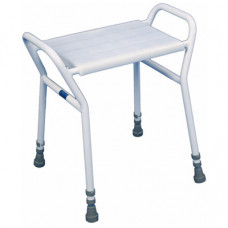 Strood height adjustable shower stool with a clip-on/ clip-off top