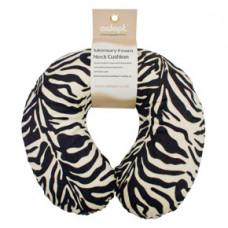 Memory Foam Neck Cushion (Design Black/White Zebra)