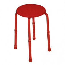Multi-Purpose Adjustable Stool (Red)