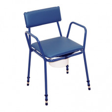 Essex Height Adjustable Commode Chair (Blue)