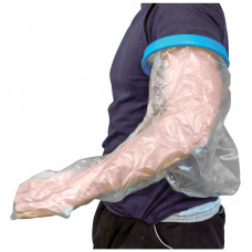 Waterproof Cast and Bandage Protector for use whilst Showering/Bathing - Adult Long Arm