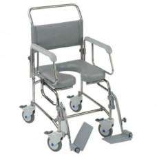 "Transaqua (TA2) Attendant Propelled Shower Commode Chair (18"")"