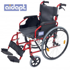 Deluxe Lightweight Self Propelled Aluminium Wheelchair (Red)