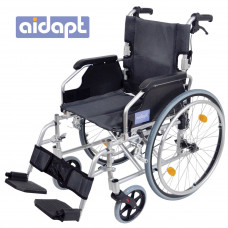 Deluxe Lightweight Self Propelled Aluminium Wheelchair (Silver) - On Request