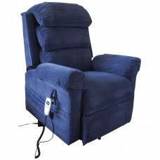 Ecclesfield Series Wall Hugging Rise & Recliner - Chenille Material - Blue - On Request