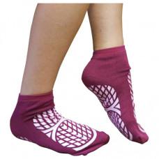 Aidapt Double Sided Non Slip Patient Slipper Socks - Size Medium UK 7.5-9.5 (Purple)