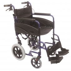 Compact Transport Aluminium Wheelchair (Blue) - Pre-order