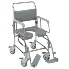 "Transaqua (TA6) Attendant Propelled Shower Commode Chair (19"")"