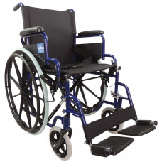 Aidapt Self Propelled Steel Transit Chair (Blue) - On Request