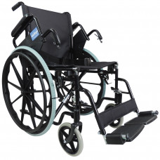 Aidapt Self Propelled Steel Transit Chair (Black) - On Request