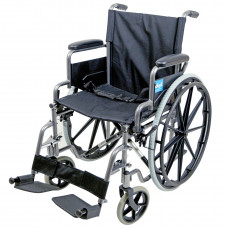 Aidapt Self Propelled Steel Transit Chair (Hammered Effect) - On Request