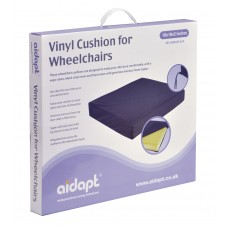 Vinyl Wheelchair Cushion with Memory Foam (457x406x50 mm)