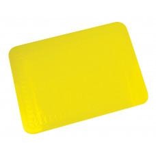 Silicone Rubber Anti Slip Rectangular Mat 25.5x18.5 cm (Colour Yellow)