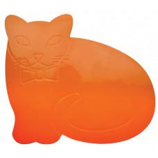 Tenura Anti Slip and Anti Microbial Childrens Table Mat - Orange Cat